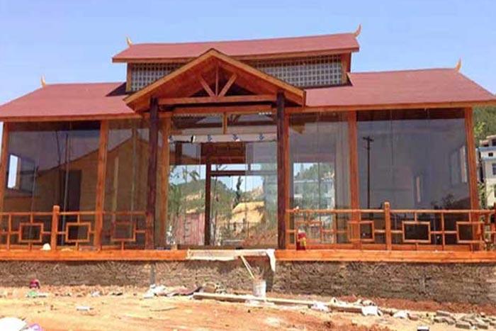 景区玻璃耐候钢板景观房-耐候钢厂家